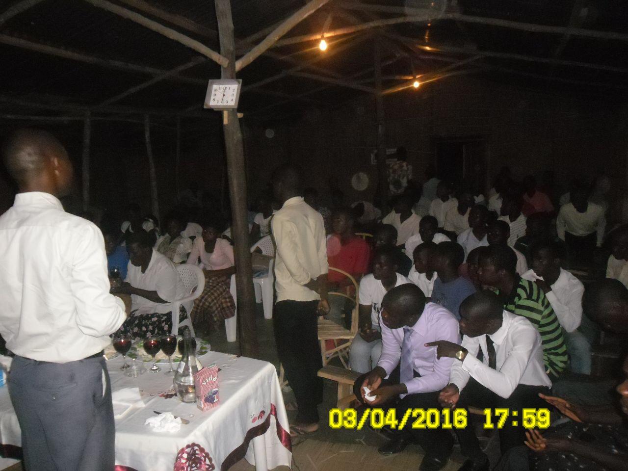 Santa Ceia no Tabernáculo na cidade de Beira - Moçambique-África